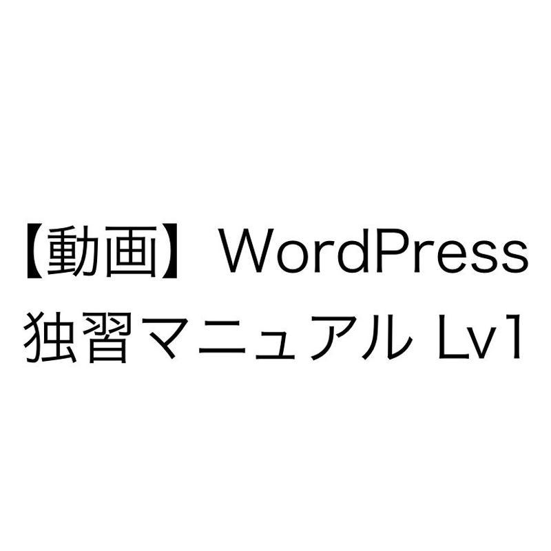 【動画】WordPress 独習マニュアル Lv1