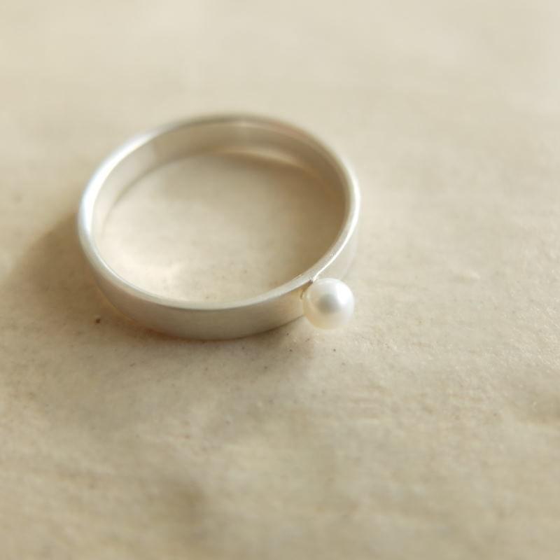 Flat-pearl ・リング