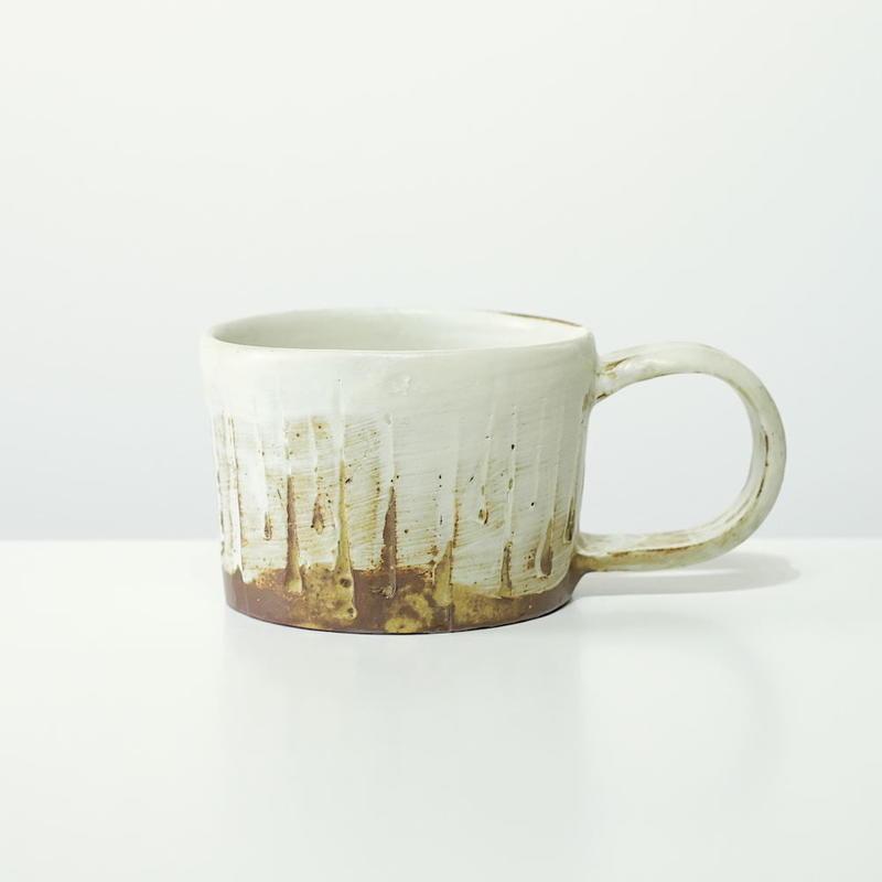 比地岡 陽子  木立ちのマグカップ(実物写真)