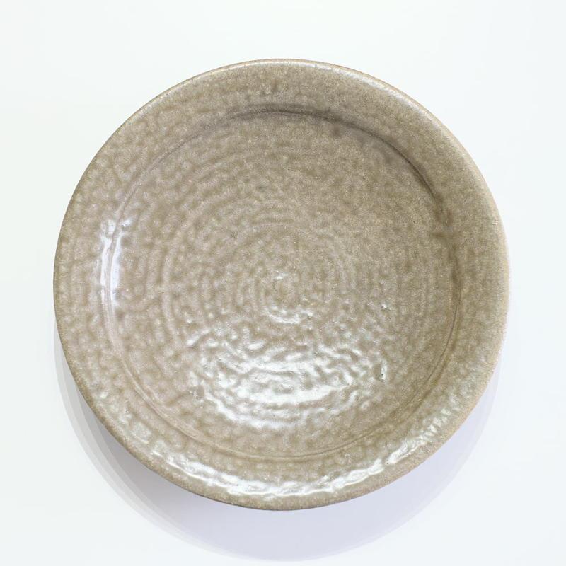 鈴木 進 緑釉・21センチ皿(実物写真)
