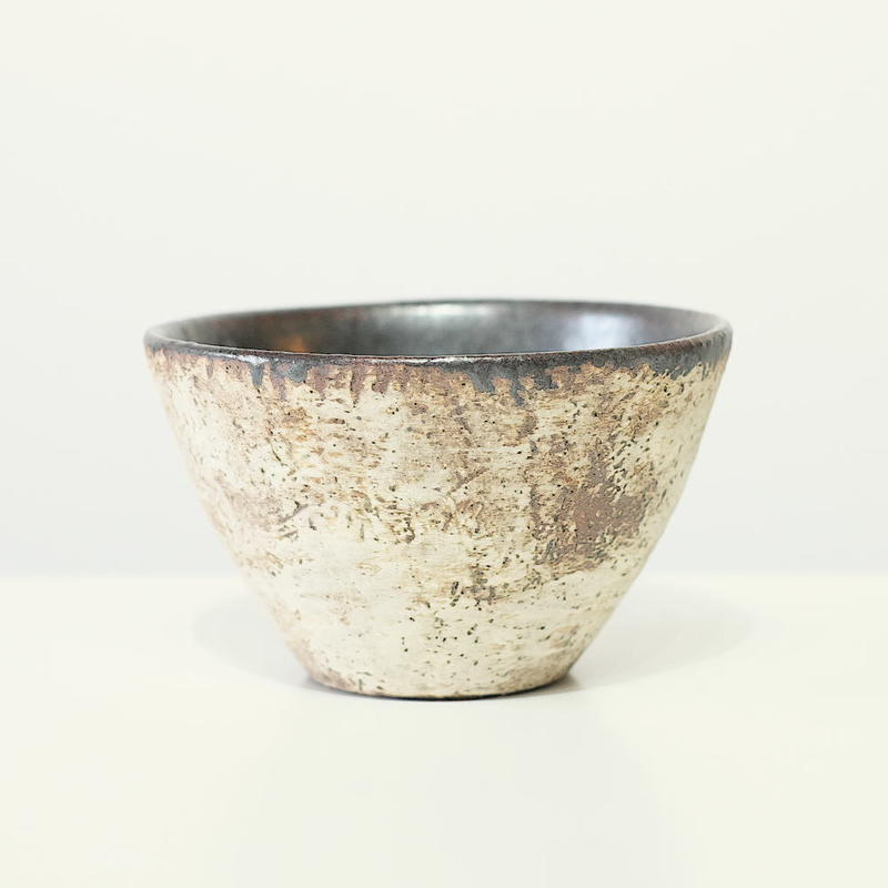 螢松窯 森の器 フリーカップ(黒釉)