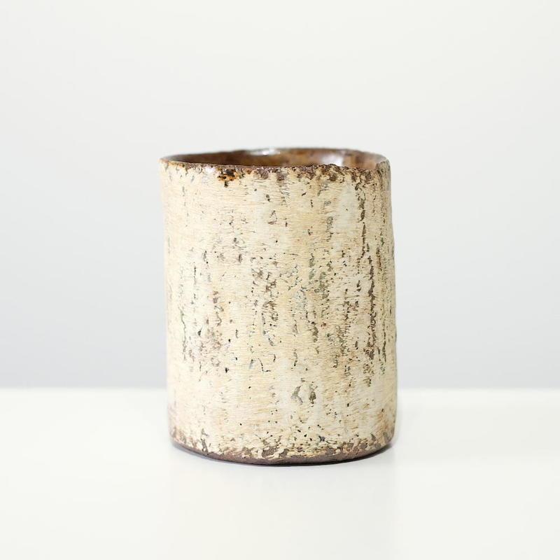 螢松窯 森の花器・白 (実物写真)