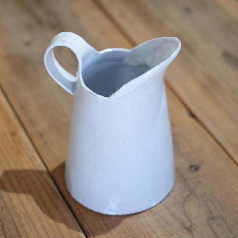 teto ceramics ピッチャー・大・白透明釉 (現品写真)