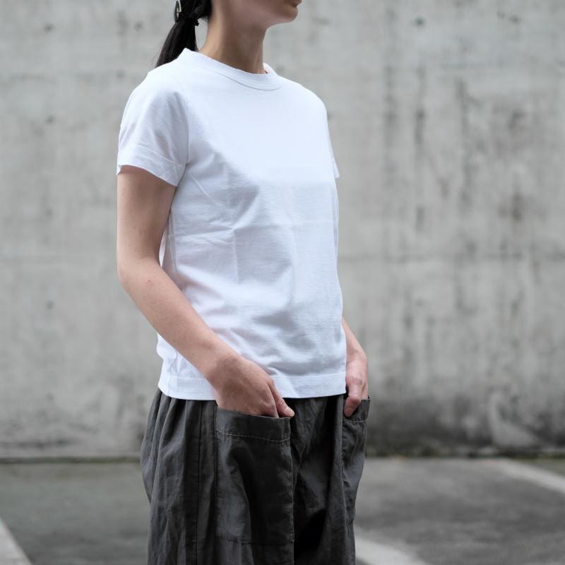 homspun 天竺半袖Tシャツ・ホワイト
