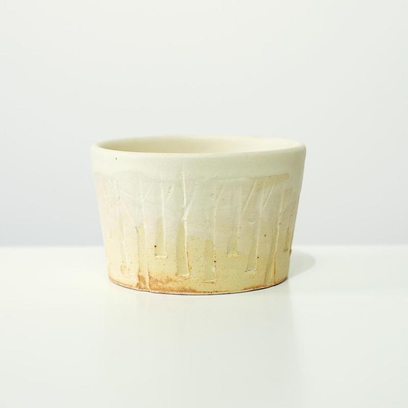 比地岡 陽子 木立ちのフリーカップ(実物写真)