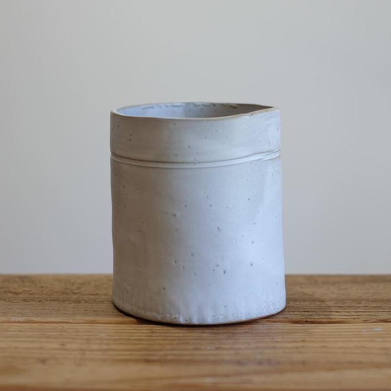 teto ceramics フリーカップ・大・白マット(現品写真)