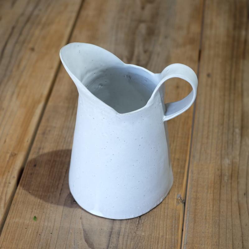 teto ceramics  ピッチャー・大・白マット(現品写真)
