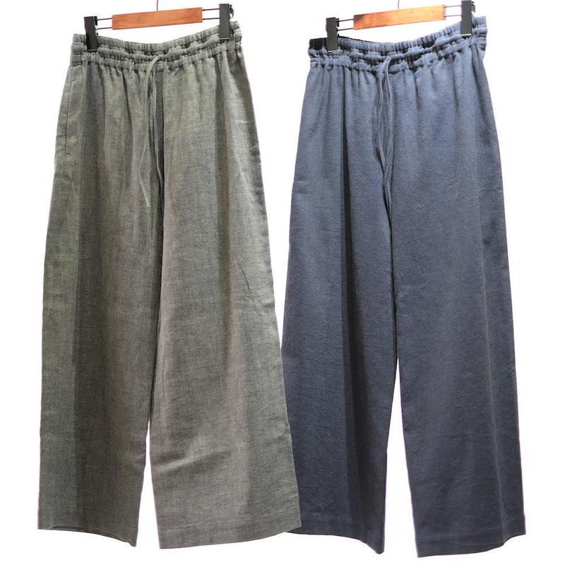 F/style 亀田縞のワイドパンツ(厚手)