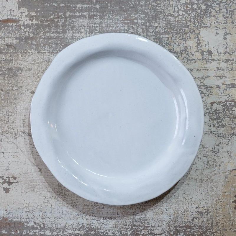 teto ceramic リムプレート・大(白透明釉)