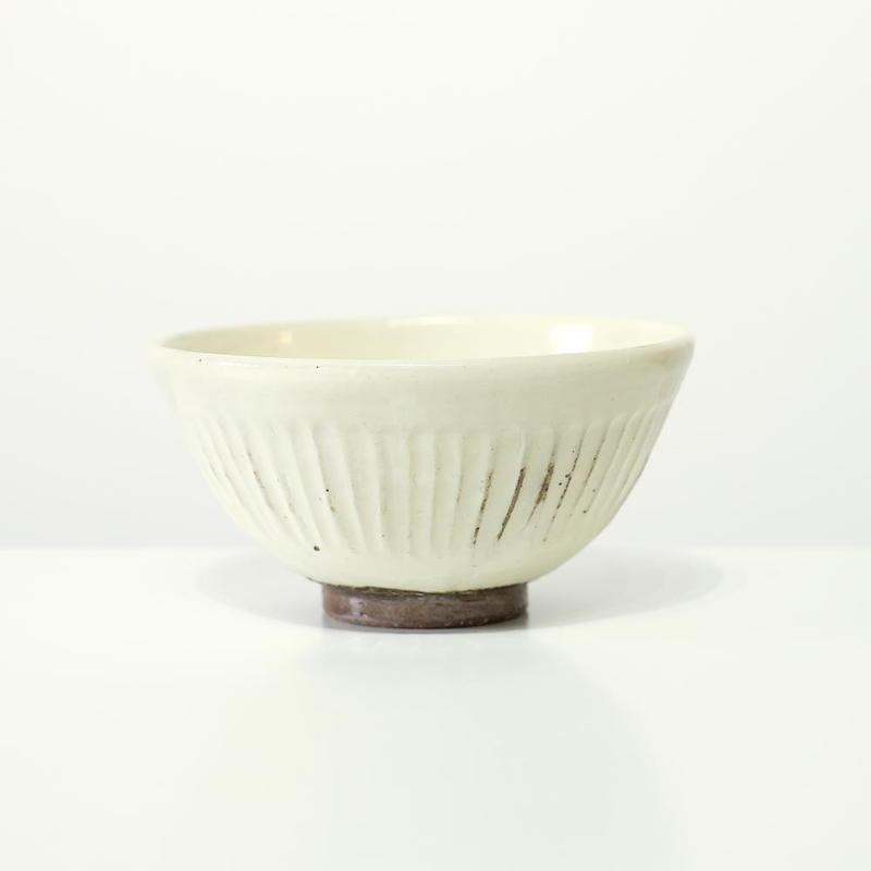 螢松窯 粉引飯碗しのぎ・大(実物写真)
