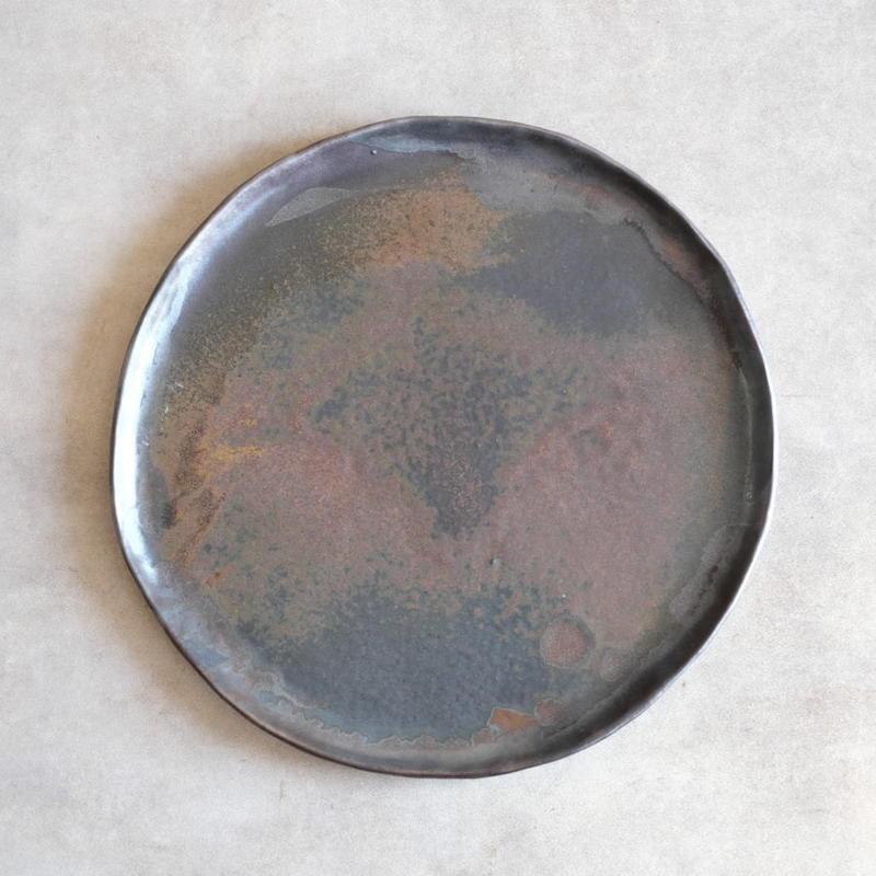 kobo syuro 銀彩釉大皿 8.5寸