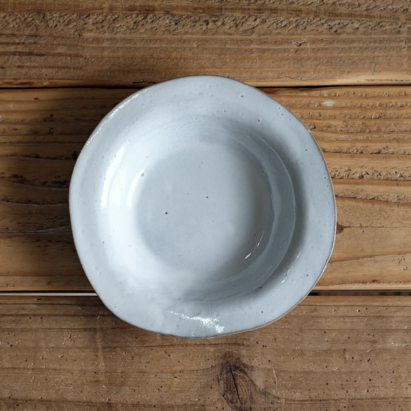 teto ceramic リムプレート・小(透明釉)現品写真