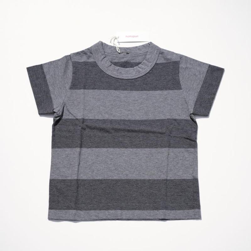 homspun キッズTシャツ・110サイズ・太ボーダー