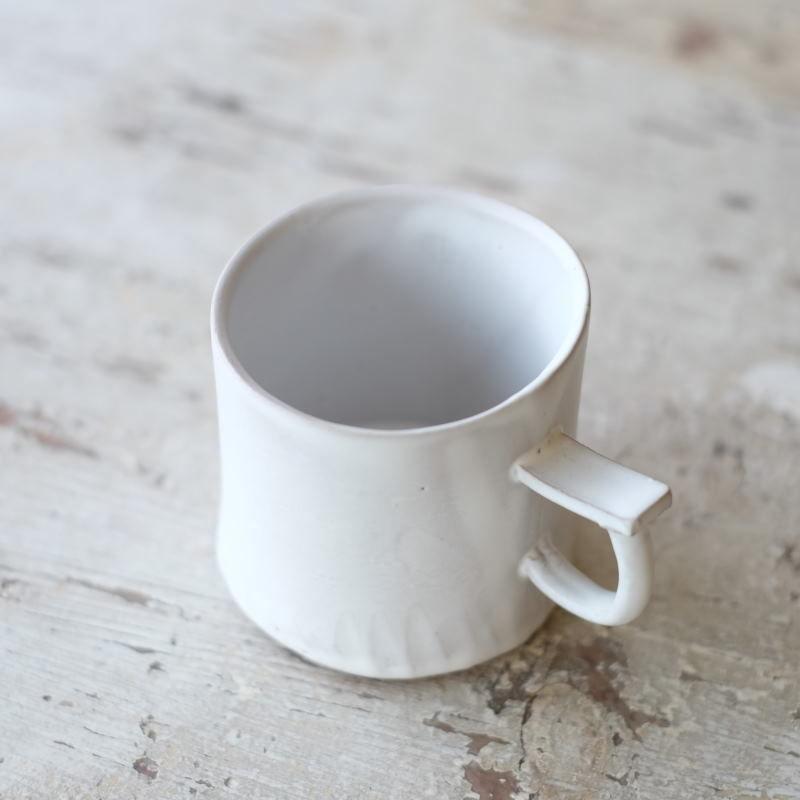 teto ceramic マグ・小(白マット)