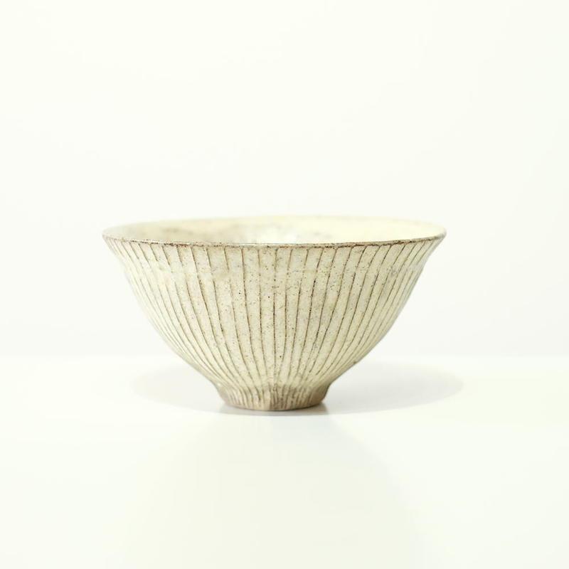 鈴木 進 粉引飯碗・小(実物写真)