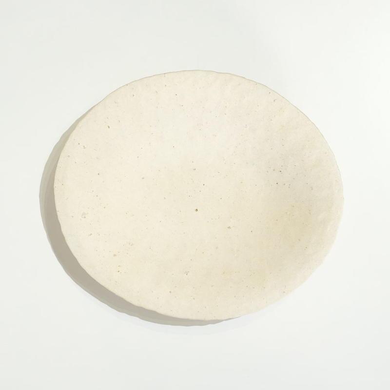 高田かえ 白土楕円皿(中)
