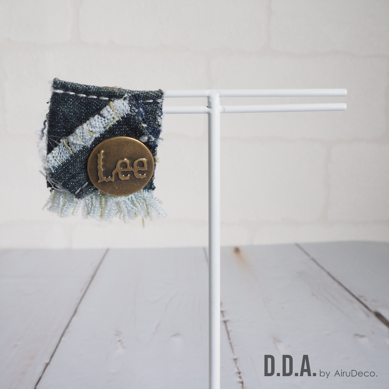 【D.D.A.】デニムリメイクピアス【No.48】
