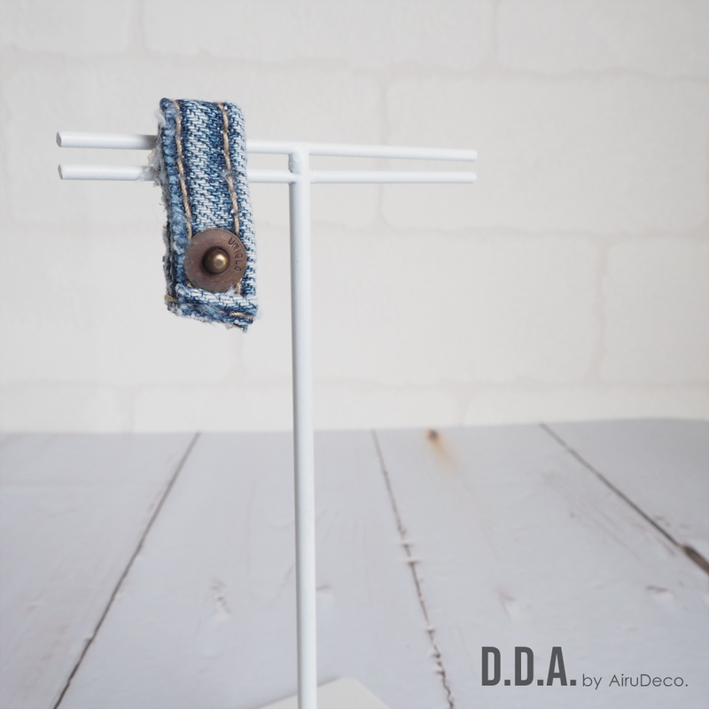 【D.D.A.】デニムリメイクピアス【No.43】