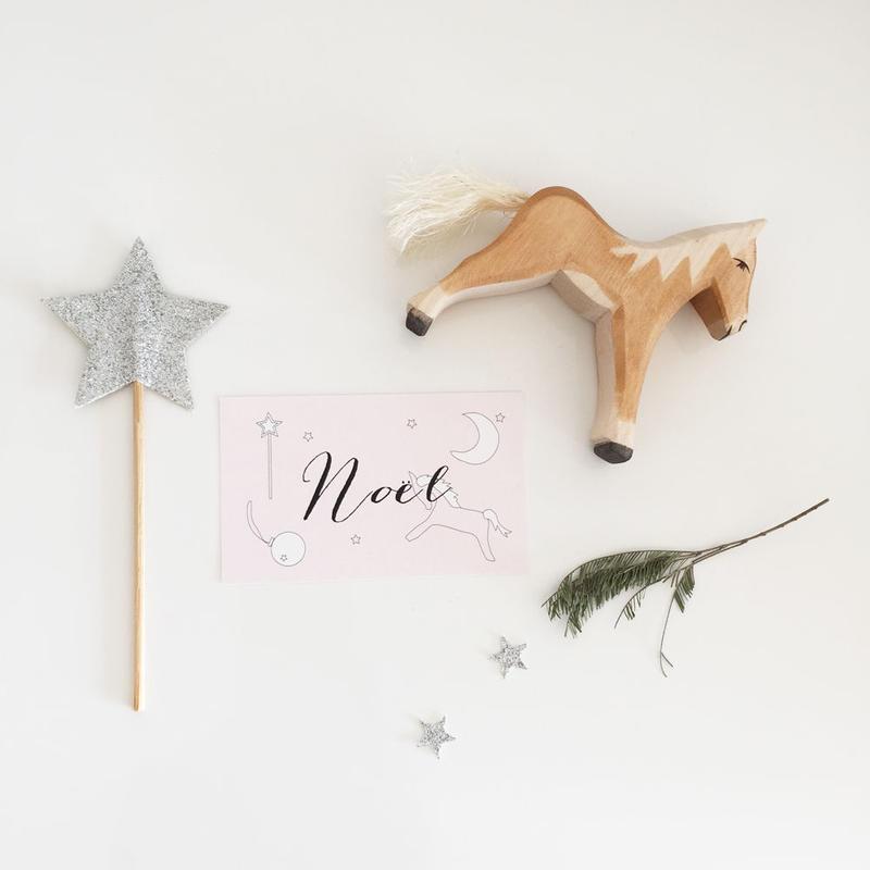 N-26 messagecard ★ Noël 20枚 rose /blanc