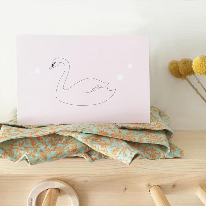 P-10 postcardサイズ ★ Swan romantique 12枚