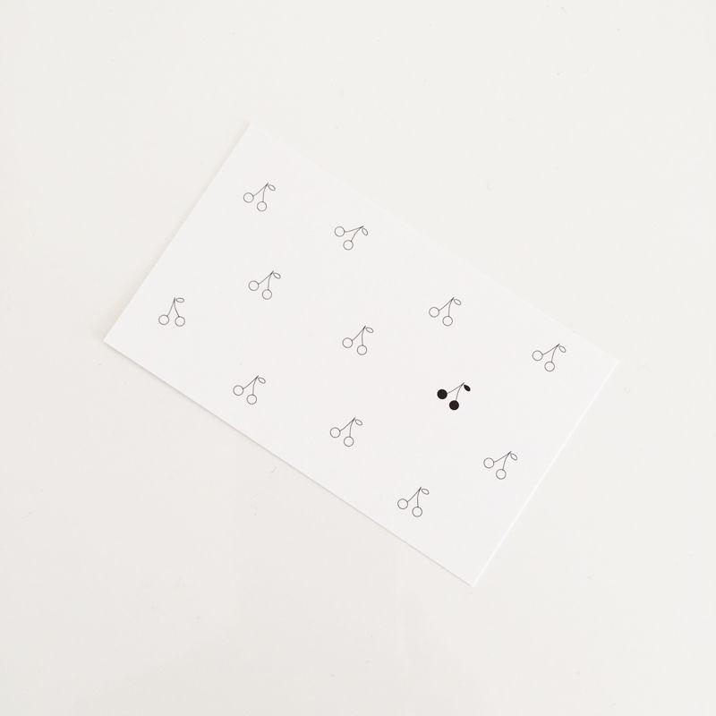 M-43  messagecard ★  petit cerise 30枚