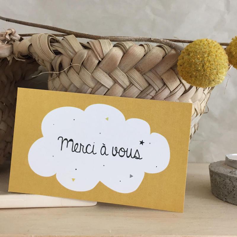 M-16 messagecard ★ nouage merci à vous (jaune moutarde) 30枚