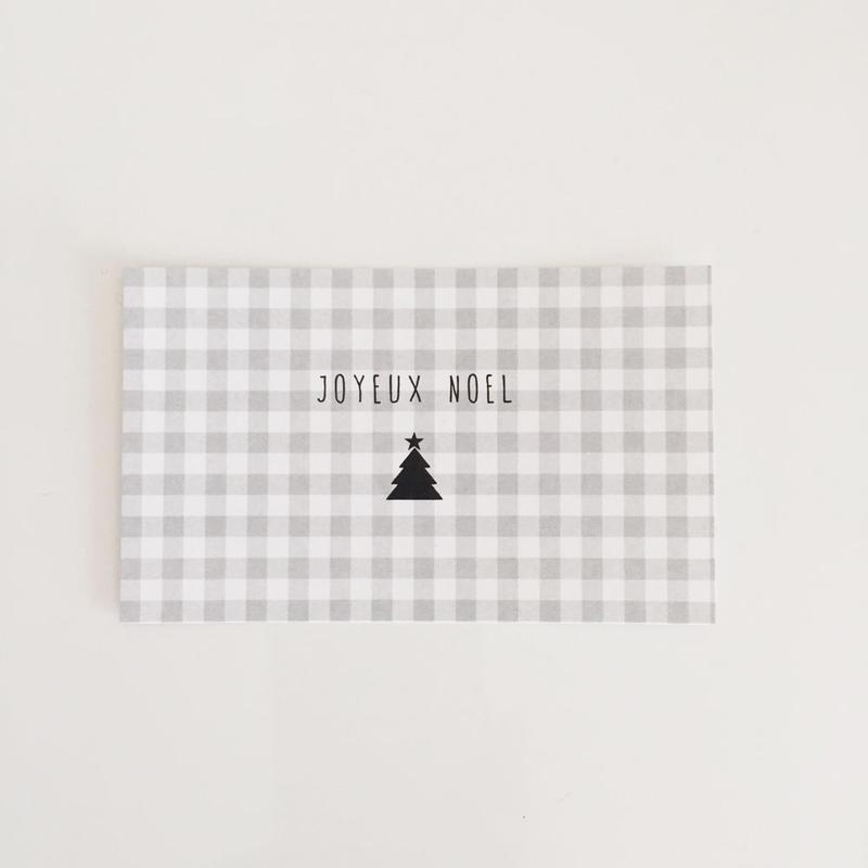 N-30 messagecard ★ Joyeux Noël carreaux 20枚