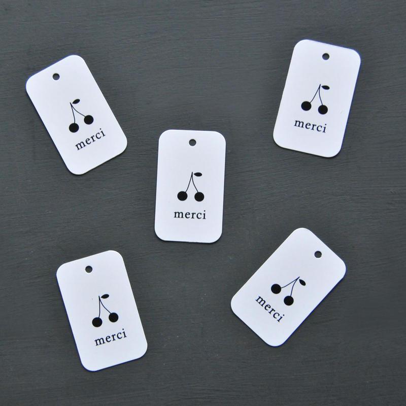 さくらんぼ mini tag 28枚 noir