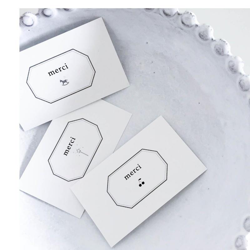 messagecard ★ cadre classique1 /  3種 30枚