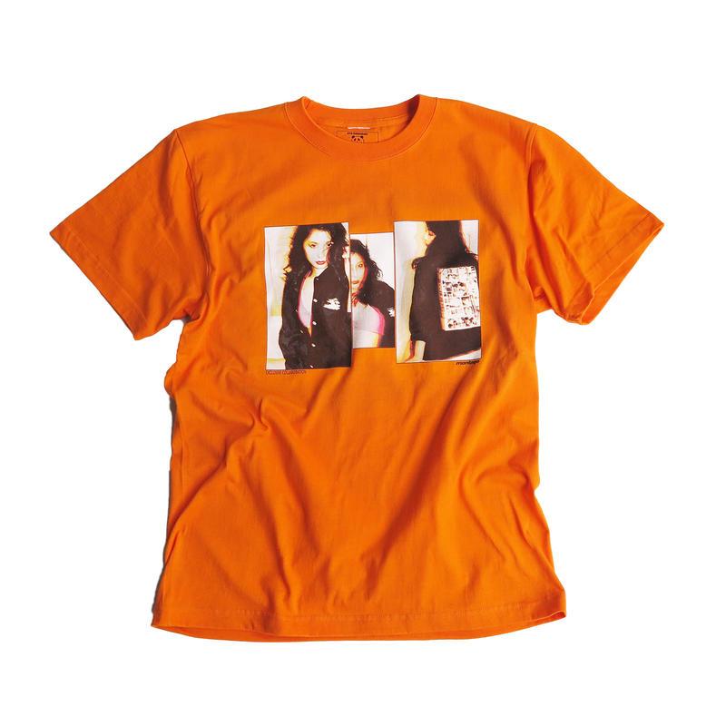 "【D】montage x aya kawasaki collaboration T-shirts ""THE VIVID TEE""  ORANGE"