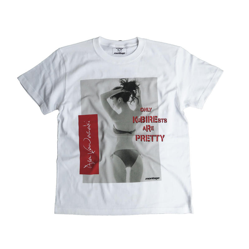 "【B】montage x aya kawasaki collaboration T-shirts ""BACK STYLE ANERCHY TEE"" RED"
