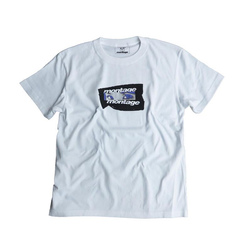 "【C】montage x aya kawasaki collaboration T-shirts ""REALIZE ME TEE""  WHT"