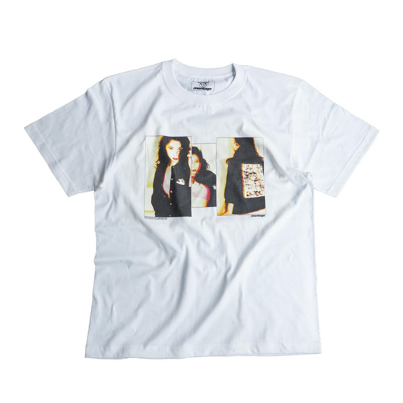 "【D】montage x aya kawasaki collaboration T-shirts ""THE VIVID TEE""  WHT"