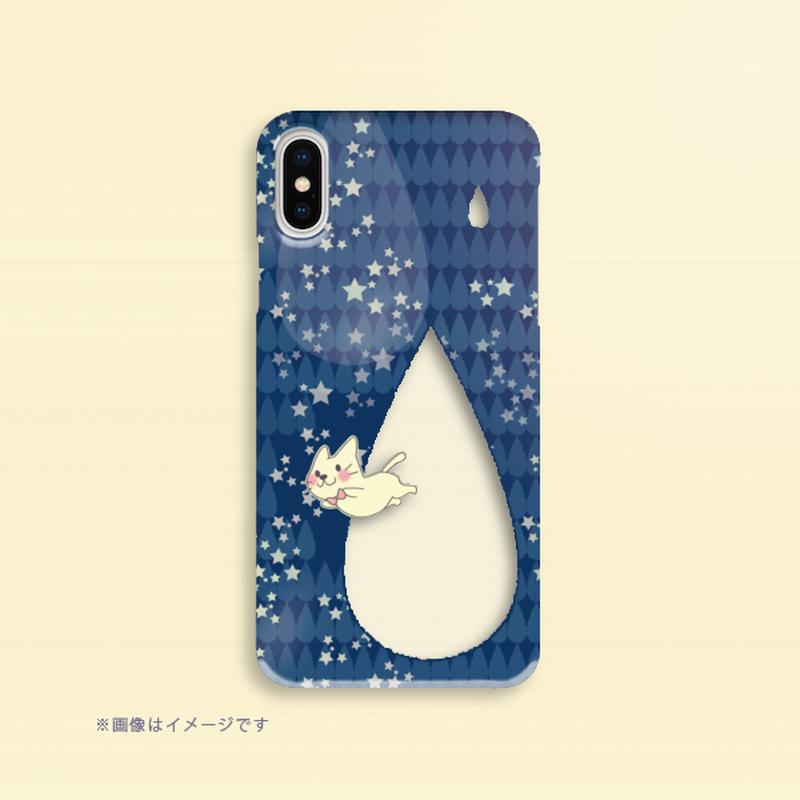 A*iPhone X/XS/8/7/6/5/5s/SE*月光雨のねこ*しずく