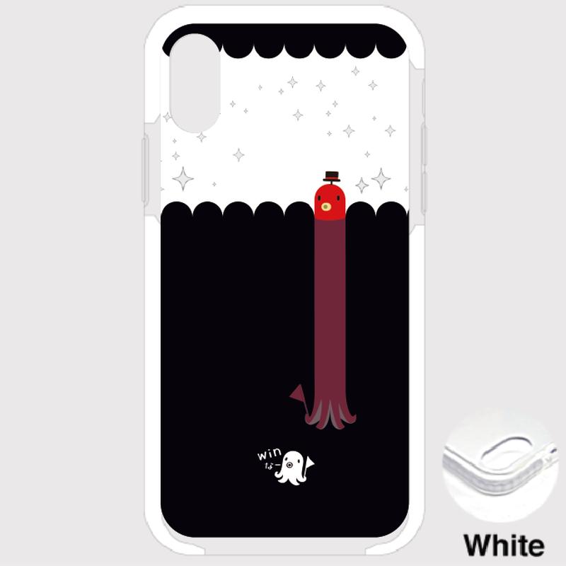 B*iPhone XSMax/8Plus/7Plus*fun fun fun*たこさんwinなーの雑踏_キラキラ*クッションバンパーケース