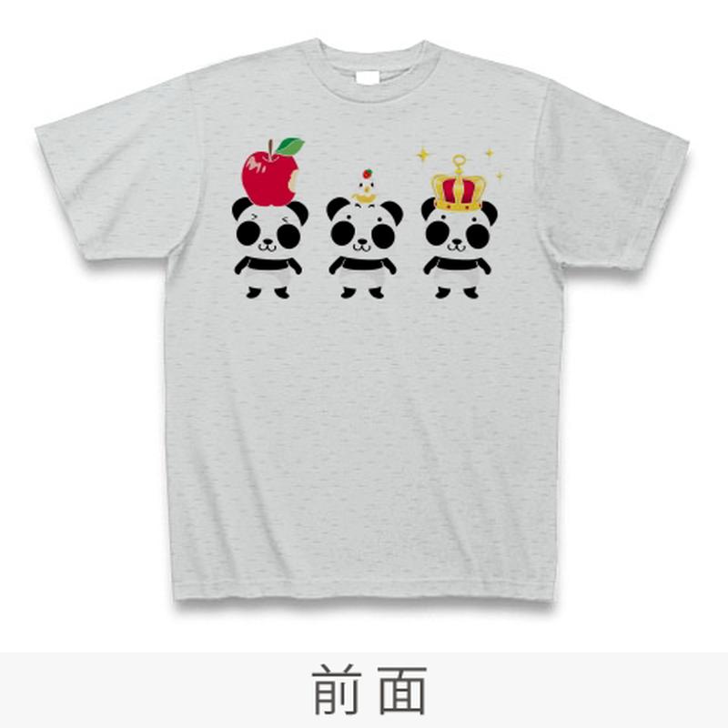 B*ズレてもぱんだ ズレぱんだちゃん*Tシャツ_グレーCT03