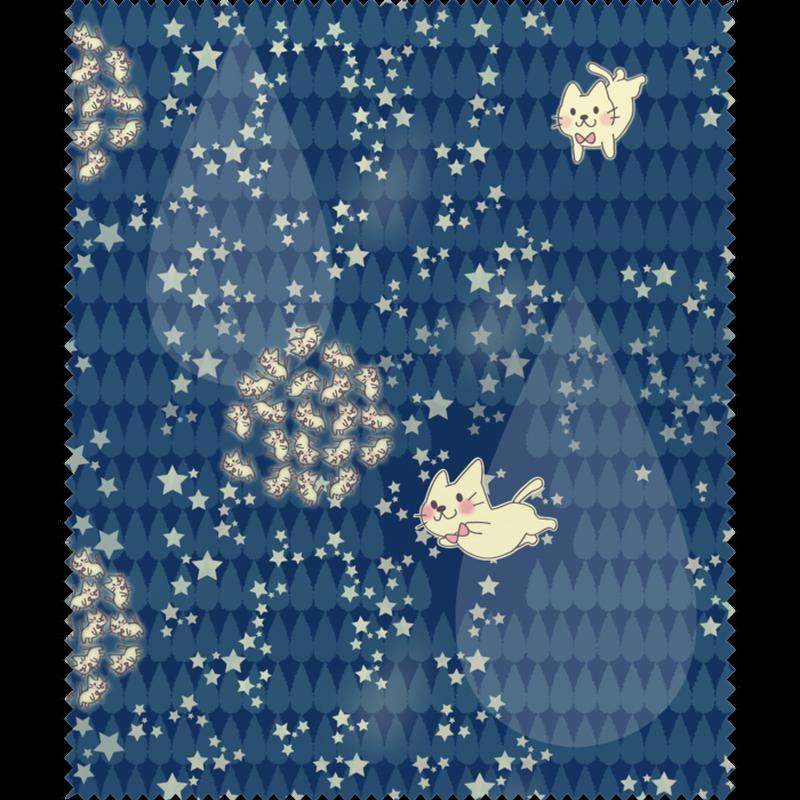 メガネふき_月光雨のねこ*しずく_1912