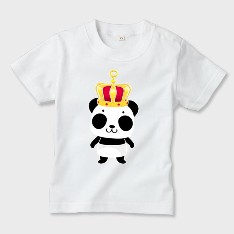A*ホワイト*70*80*90*キッズTシャツ_誰の王冠?