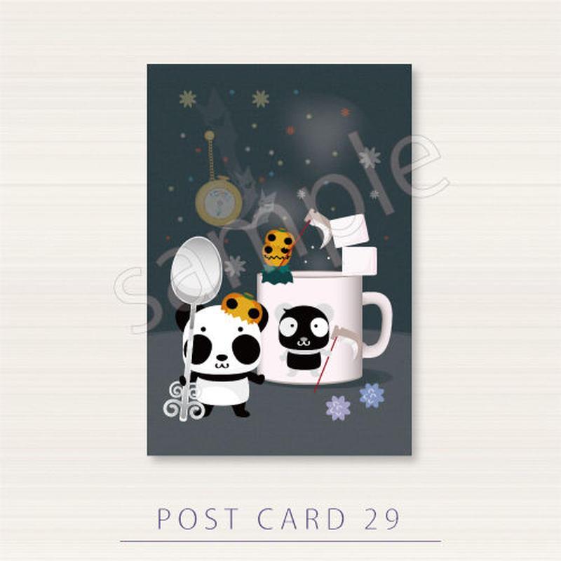PC29 ズレぱんだちゃんのとウラぱんだちゃんの甘党ポストカード