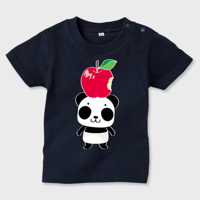 B*カラー*70*80*90*キッズTシャツ_リンゴ食べたの誰?
