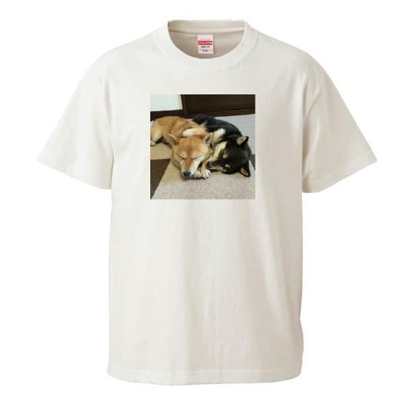 添い寝豆柴なつふゆちゃん Tシャツ