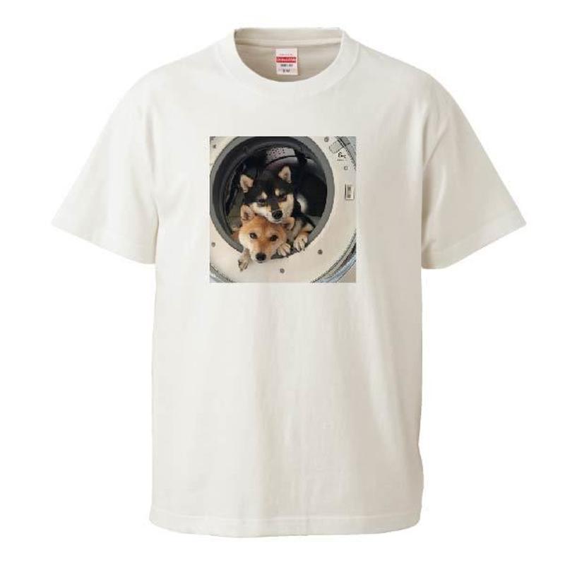 重なる豆柴なつふゆちゃん Tシャツ