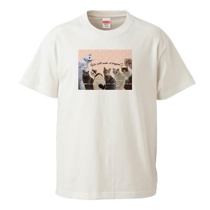 保護団体支援デザイン お座り編 Tシャツ