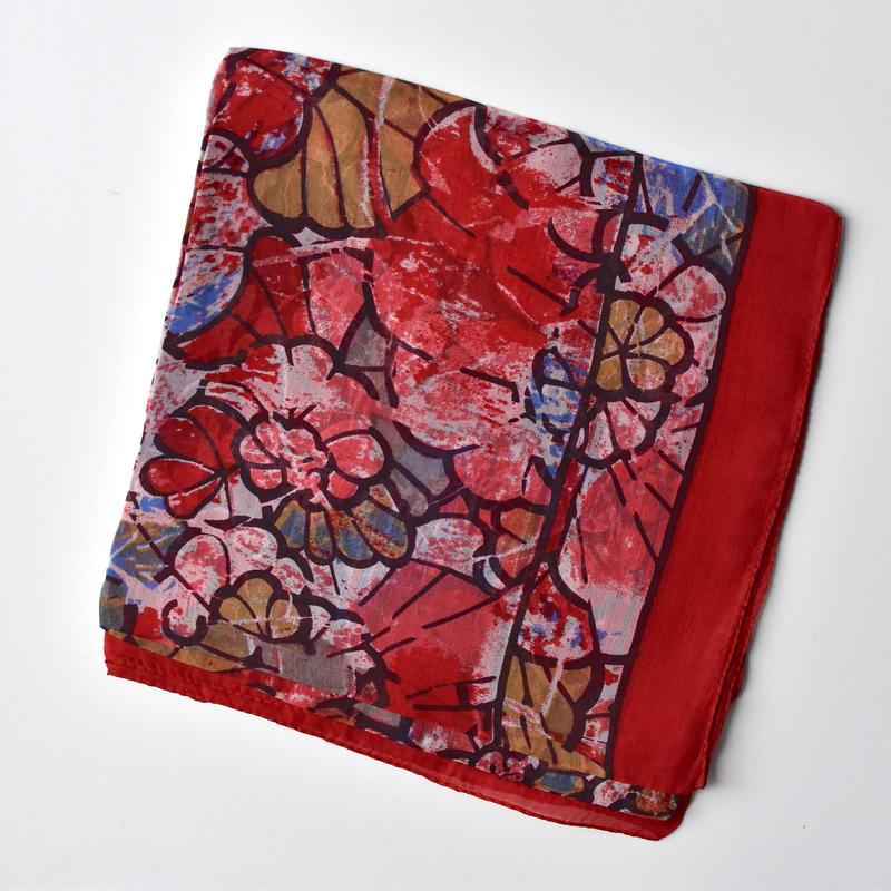 Indian silk scarf ( Modern Red)