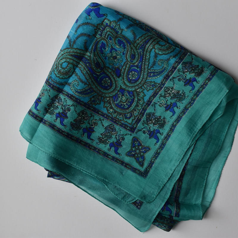 Indian silk scarf (Emerald Green)