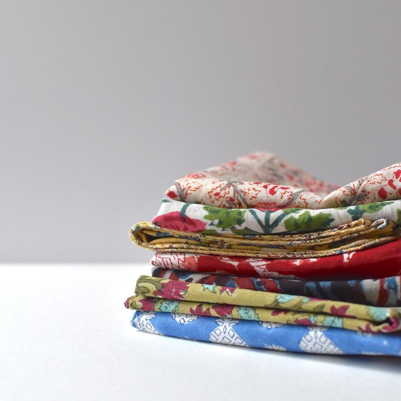 Indian cotton handkerchief