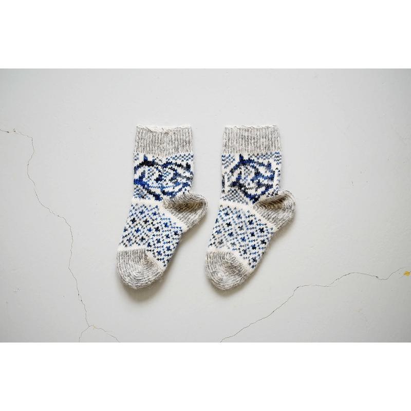 ロシアの手編みのソックス(キッズ用)