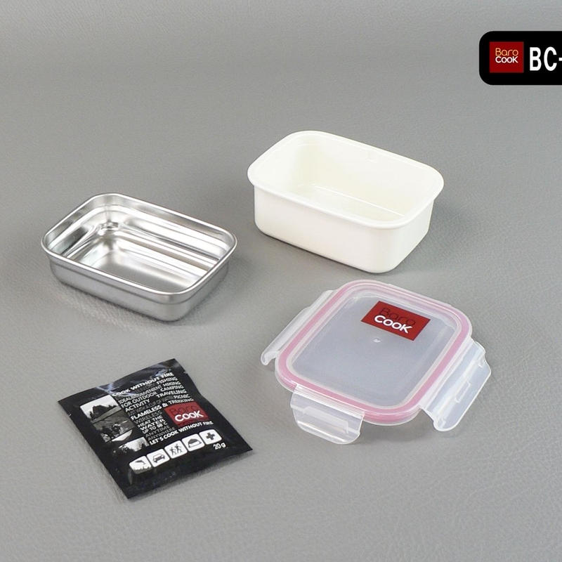 BC-002 バロクック 加熱式ランチボックス 角型Sサイズ 容量320ml