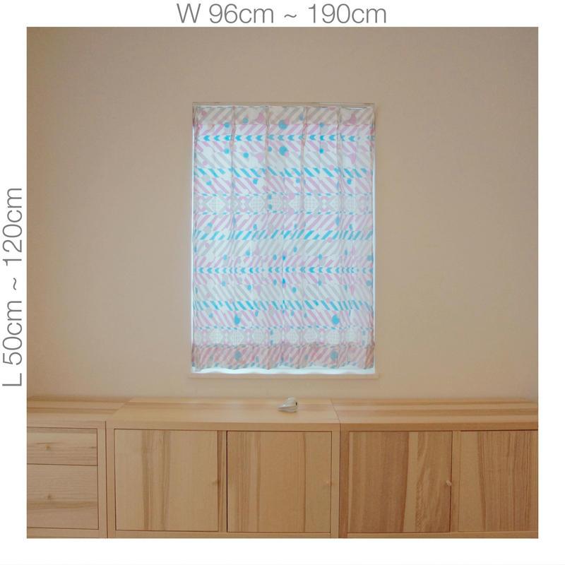 """【ORDER CURTAINS】オーダーカーテン:""""羽根""""パープル 巾 96cm~190cm ・ 丈 50cm~120cm(2枚セット)"""
