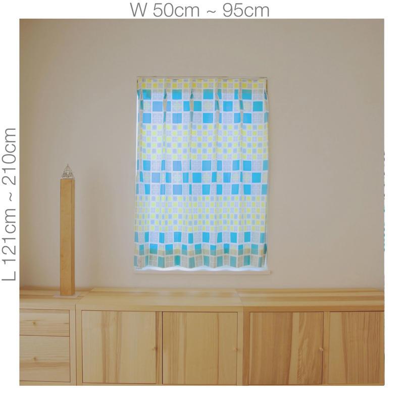 """【ORDER CURTAINS】オーダーカーテン:""""雪""""イエロー 巾 50cm~ 95cm ・ 丈 121cm~210cm(1枚)"""